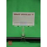 Porta etiquetas de 100 de alto con pinza